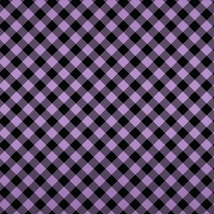 Purple Digital Paper, Gingham, Stripes, Vintage