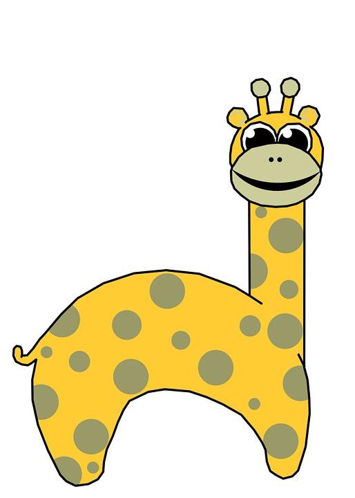 Giraffe, Spots, Clip, Arts, Children, Invitation
