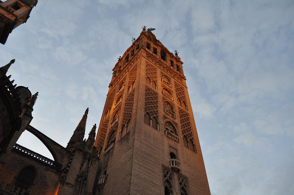 Giralda, Seville, Spain, Andalusia, Monument, Tower
