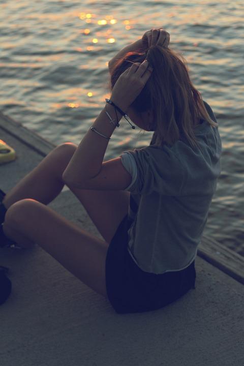 Girl, Woman, Blonde, Ponytail, Legs, Accessories