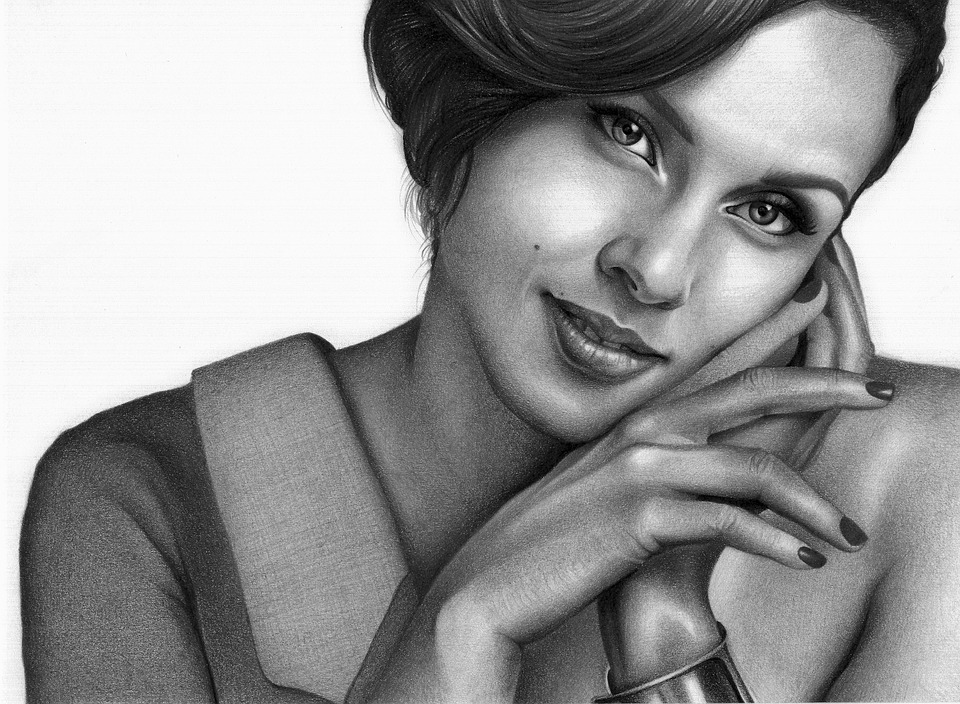 Alicia Key, Drawing, Draw, Portrait, Girl, Young, Smile