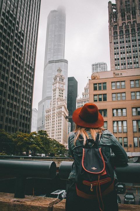 Person, Hat, Girl, Adventure, Architecture, Building