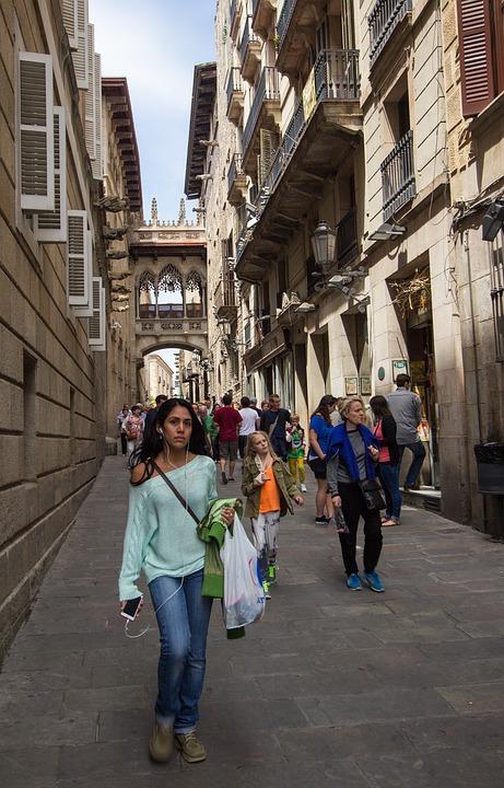 Spain, Barcelona, Girl, Fashion, Summer, Architecture
