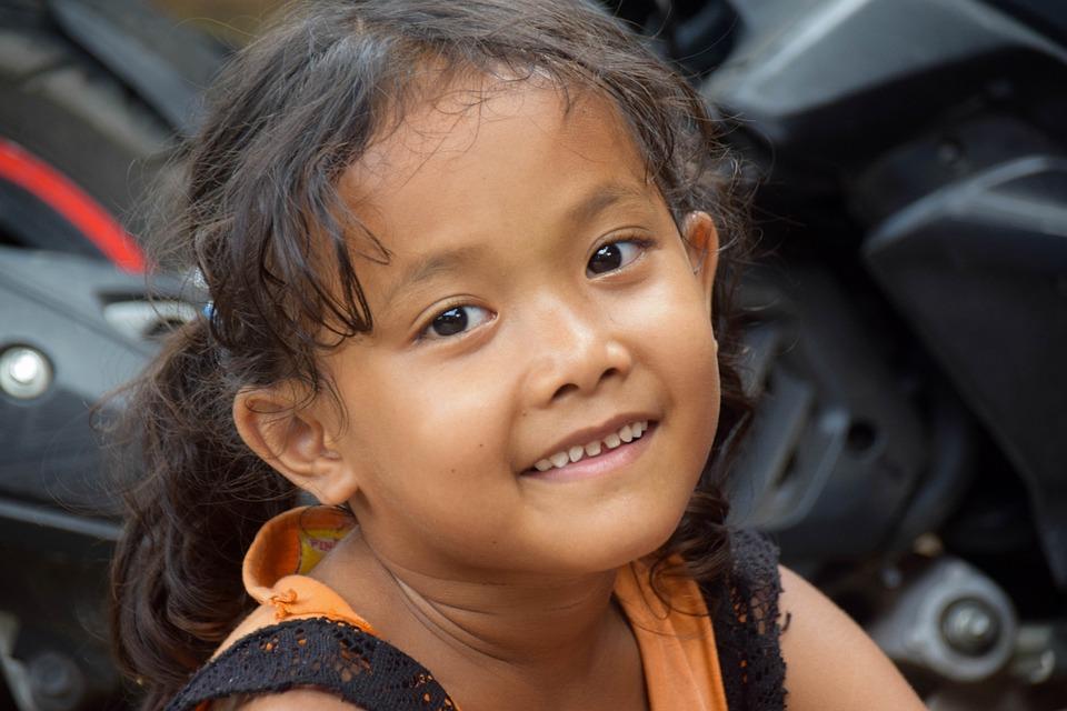 Bali, Indonesia, Travel, Child, Girl, Laugh, Happy
