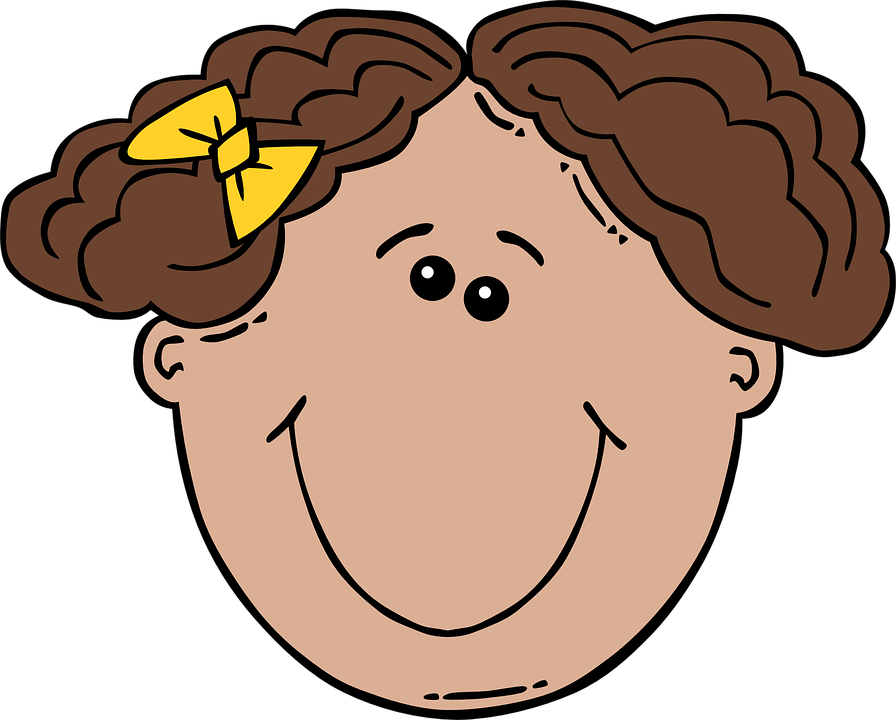 Short Haired, Face, Front View, Curly, Barrette, Girl