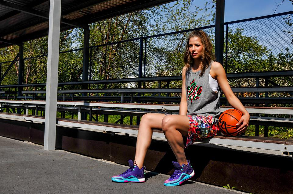 Girl, Park, Sports, Basketball, Photoshoot, Model