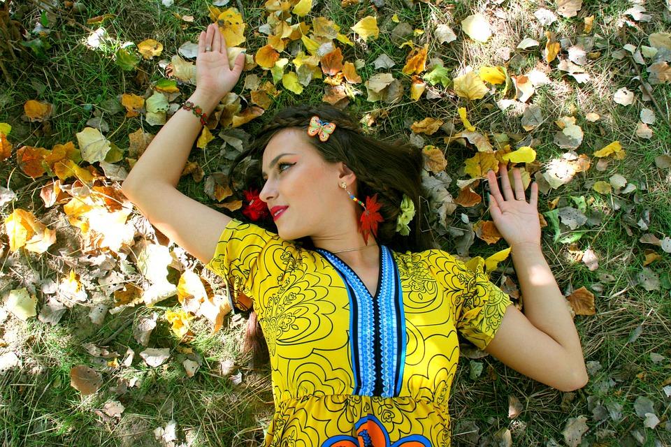 Girl, Autumn, Leaves, Portrait, Vegetation, Beauty