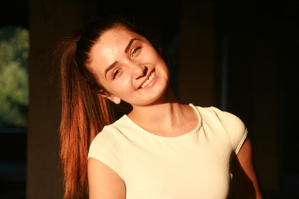 Girl, Portrait, Smile, Beauty