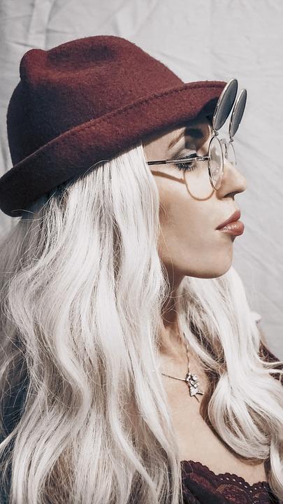 Girl, Person, Glasses, Blonde, Hair, Beauty, Model