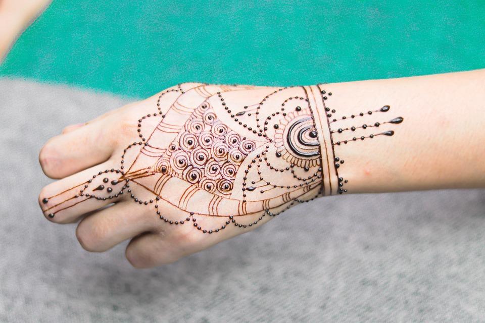 Girl, Hand, Henna, Mendi, Natural, Marriage, Body