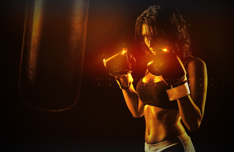 Girl, Boxer, Sport, Woman, Boxing, Fitness, Power, Fit