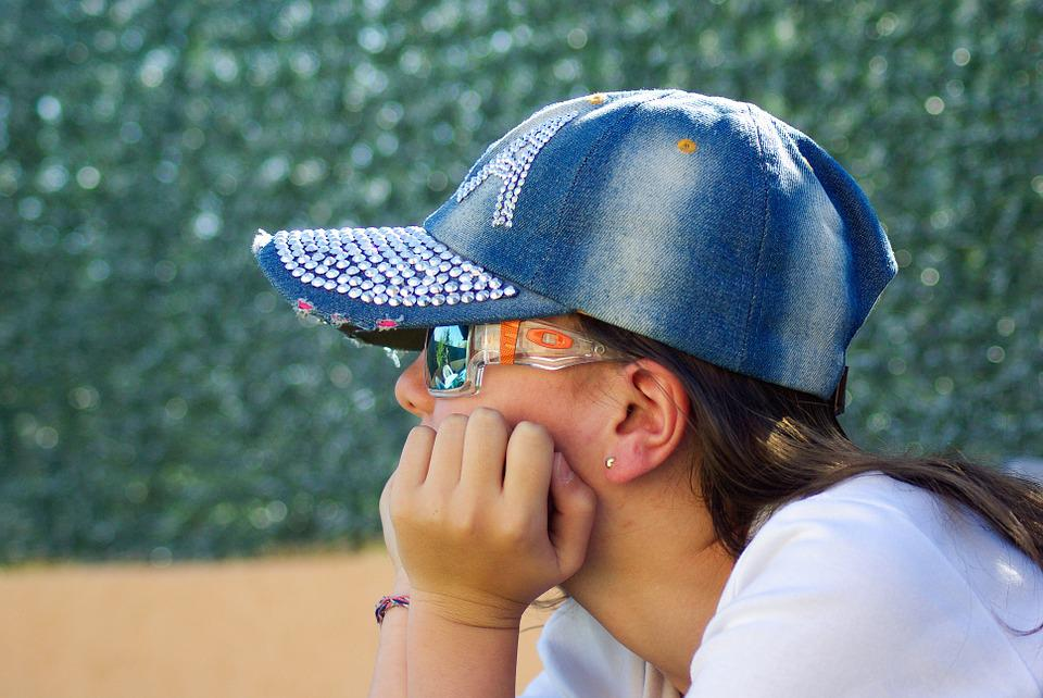 Girl, Cap, Sunglasses