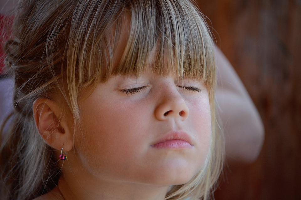 Person, Human, Child, Girl, Blond, Face, Eyes Closed
