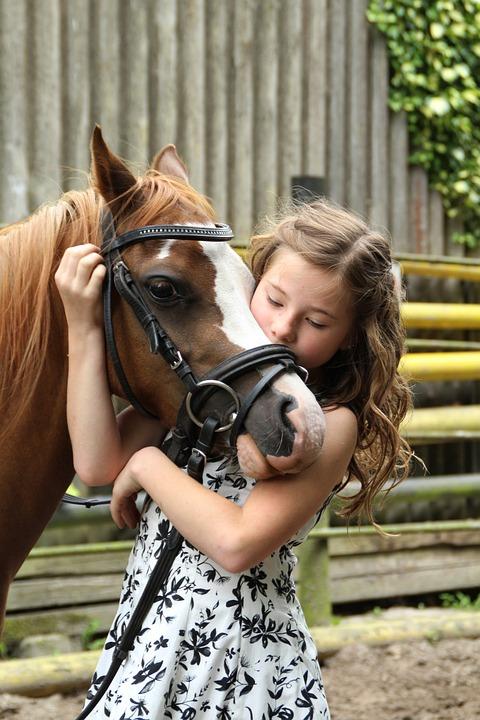 Pony, Girl, Horse, Child, Animal, Hobby, Cute, Coupling