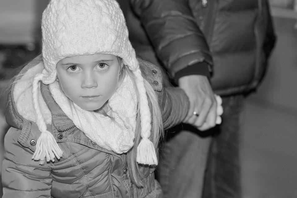 Child, Girl, Cap, View, Winter, Cold, Parents