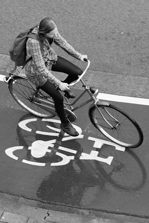 Girl, Bicycle, Traffic, Dutch, Netherlands, Bike, Cycle