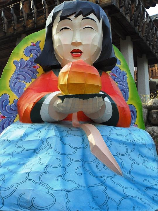 Buddha's Birthday, Daegu, South Korea, Girl