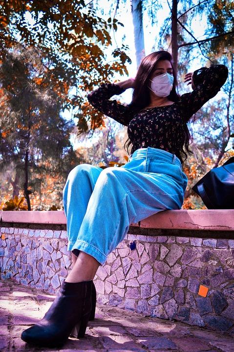 Girl, Fashion, Face Mask, Portrait, Pose, Model