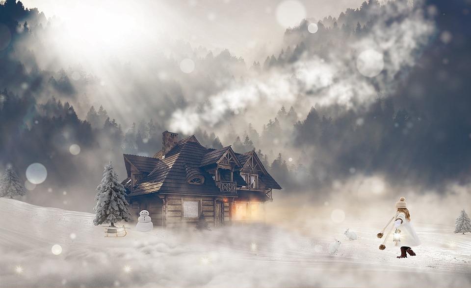 Winter, Wintry, Girl, Female, Snow, Winter Magic, Mood