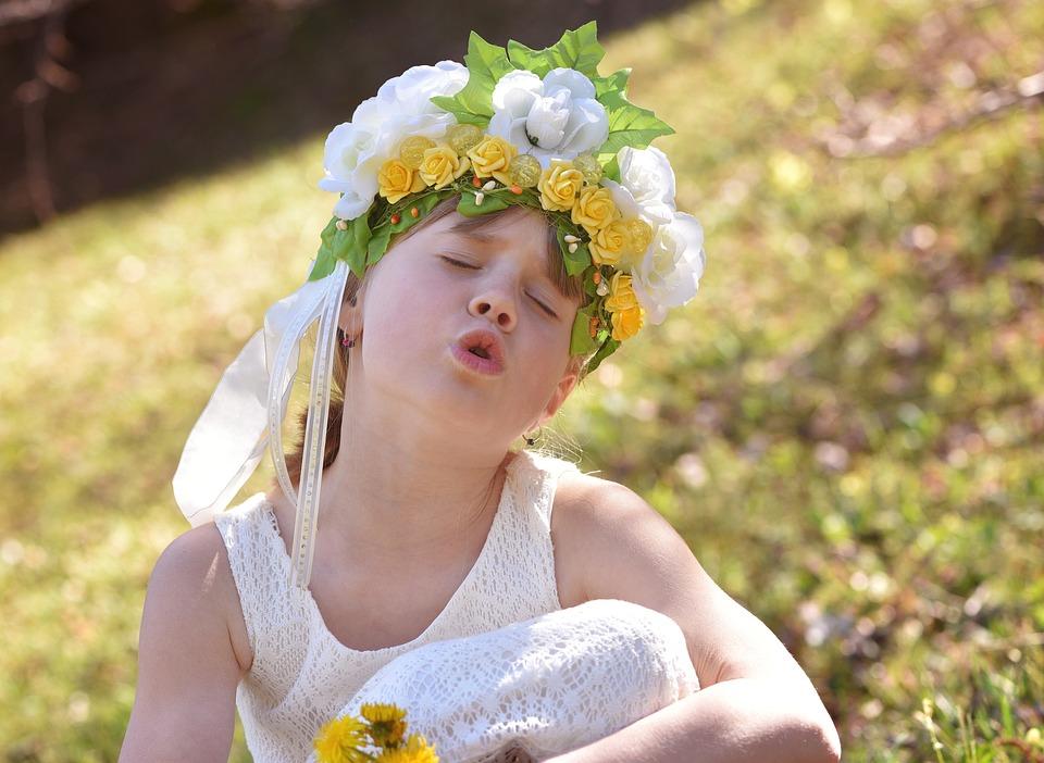 Human, Child, Girl, Face, Flower Child, Flowers