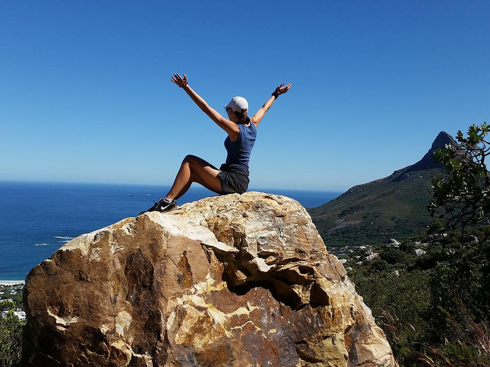 Girl, Freedom, Climbing, Hiking, Happiness, Summer