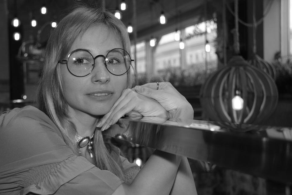Glasses, Round Sunglasses, Portrait, Girl, Woman