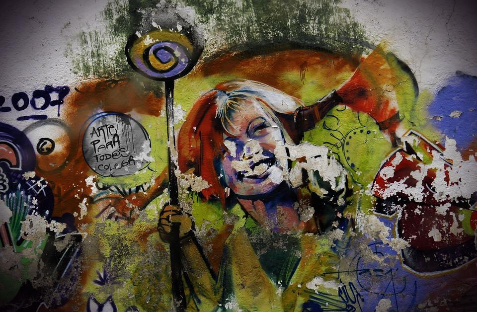 Art, Painting, Street Art, Graffiti, Girl