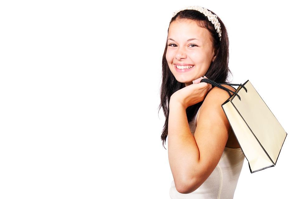 Bag, Buying, Carry, Customer, Cute, Female, Girl, Happy
