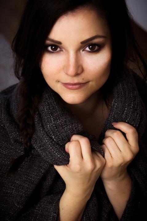 Girl, Human, Portrait, Pretty, Sweater, Photography