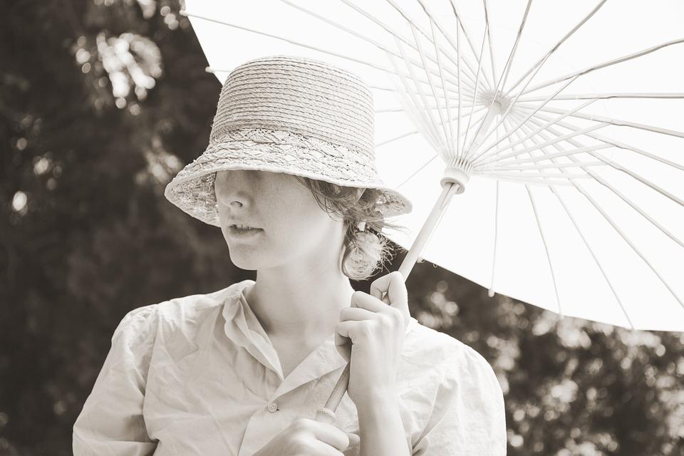 Vintage, Woman, Girl, Lady, Straw, Hat, Straw Hat
