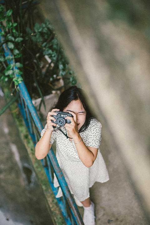 Girl, Camera, Photography, Lifestyle, Outdoors, Vietnam