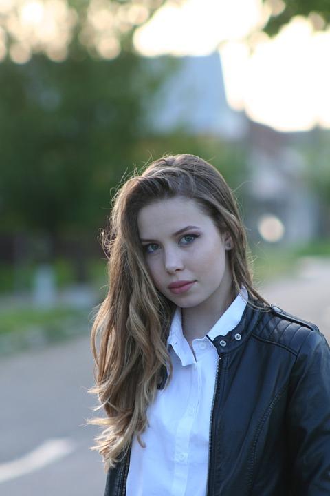 Girl, Long Hair, Portrait, Beauty, Seriousness, Shadow