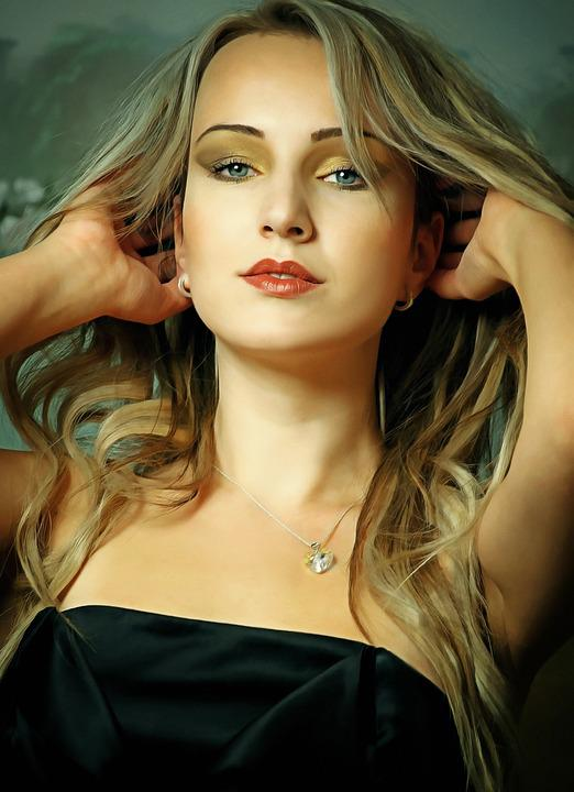 Girl, Portrait, Figure, Model, Blonde, Person, Eyes
