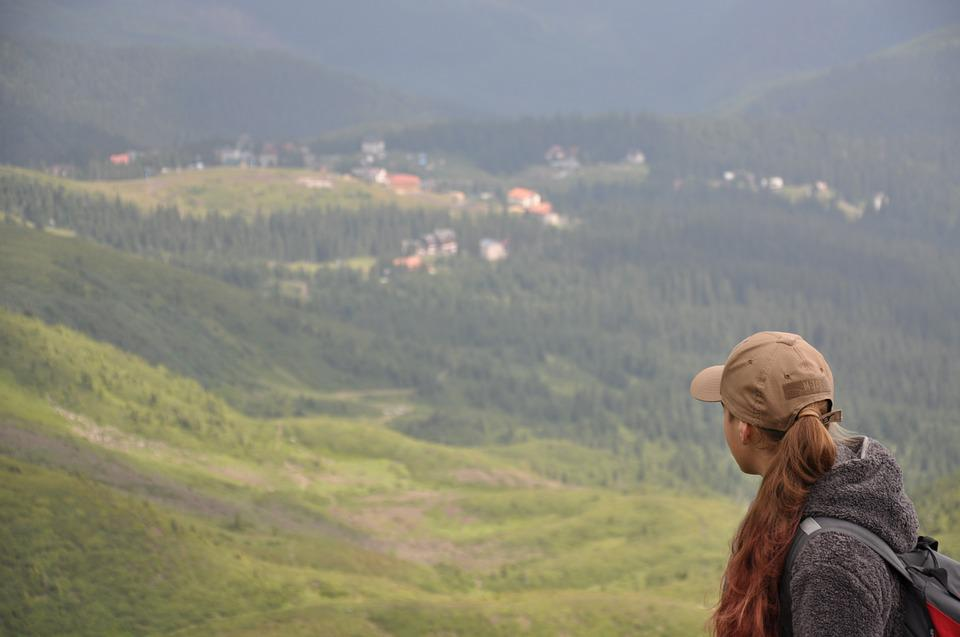 Mountains, Girl, To Look Into The Distance