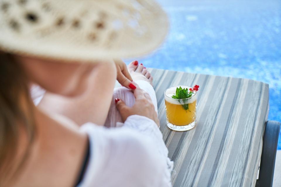 Woman, Resort, Hotel, Holiday, Water, Ocean, Girl