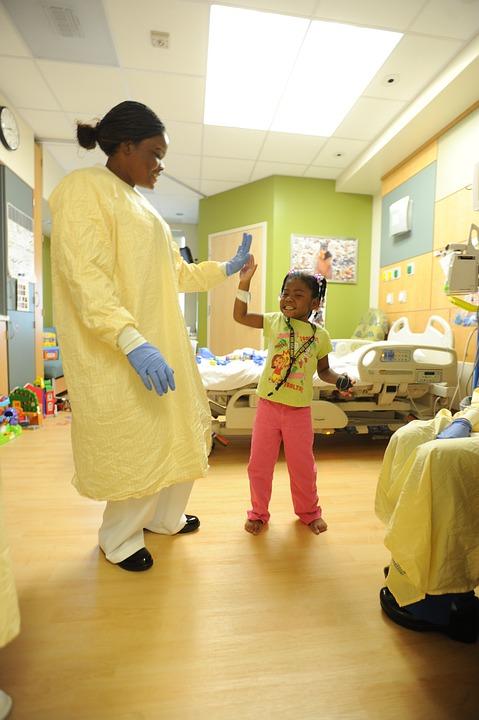 Hospital, Nurse, Patient, Child, Girl, Room, Treatment