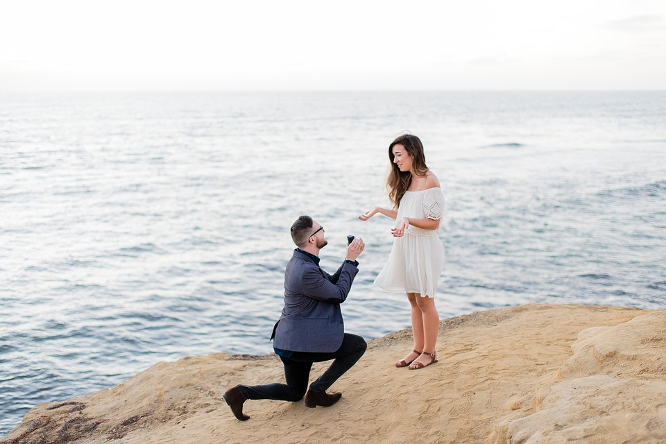 People, Couple, Man, Girl, Propose, Engagement, Ring