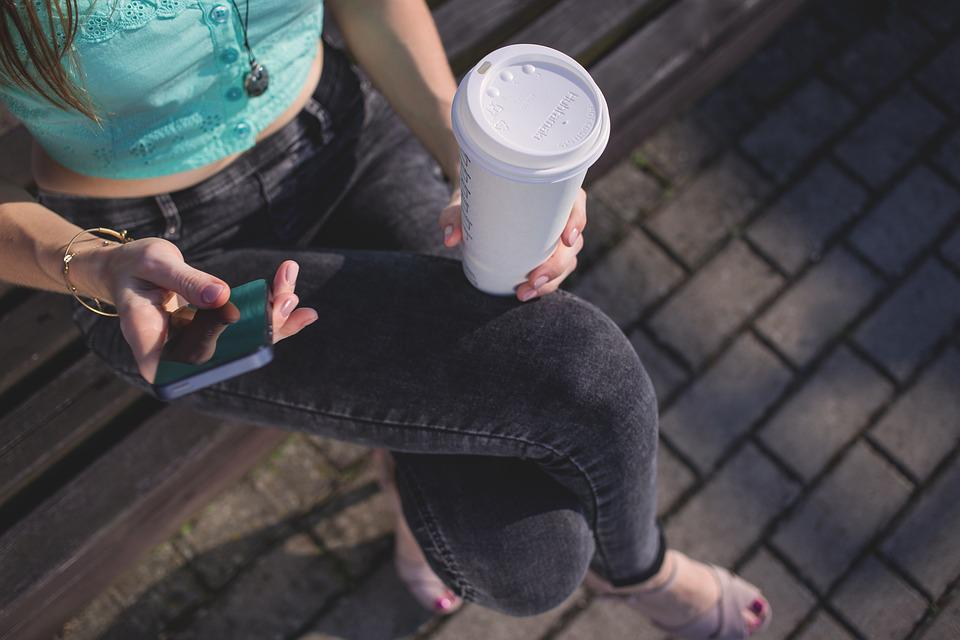 Coffee To Go, Cup, Drink, Girl, Hands, Person