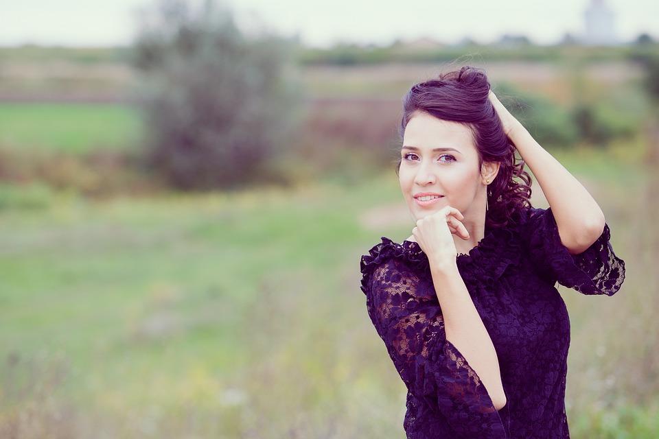 Girl, Portrait, Woman, Model, Beauty, Smile, Joy, Green