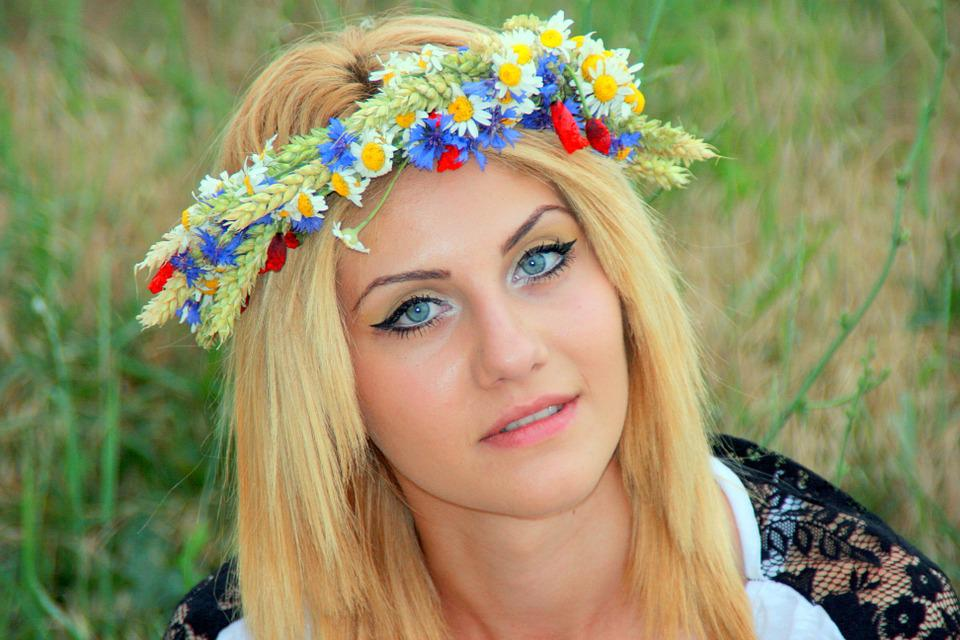 Girl, Wreath, Blonde, Portrait, Nice