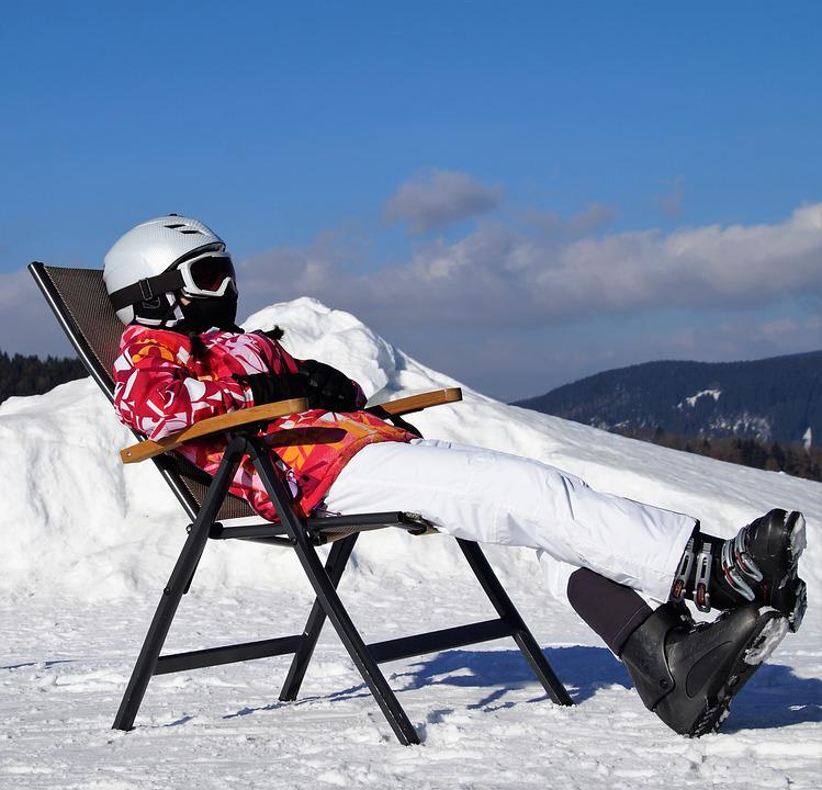 Recreation, Relax, Rest, Girl, Skier, Peace