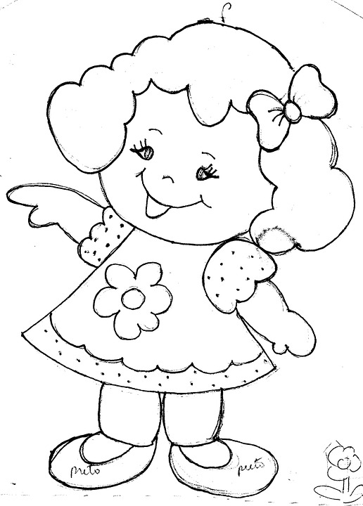 Girl, Child, Girls, Smile, Linda, Happy, Drawing
