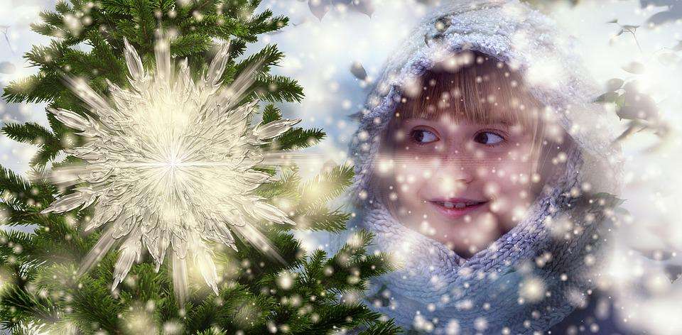 Christmas, Child, Happy, Snowflake, Snow, Winter, Girl