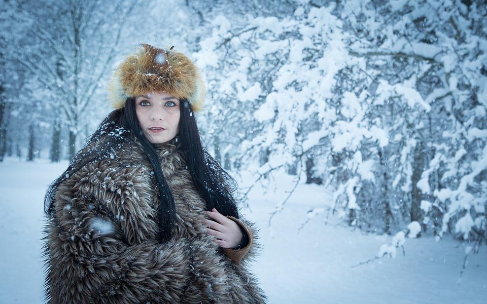 Winter, Fashion, Girl, Young, Model, Woman, Snow