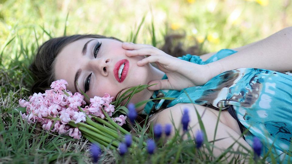 free photo girl beauty flowers spring nature hyacinth  max pixel, Beautiful flower