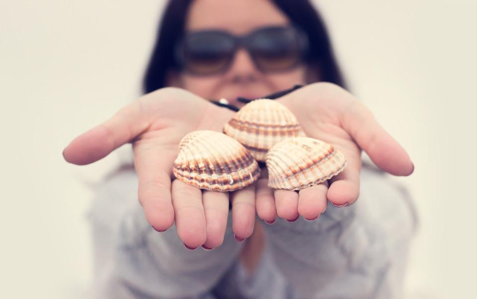 Girl, Hands, Sea, Sunglasses, Woman
