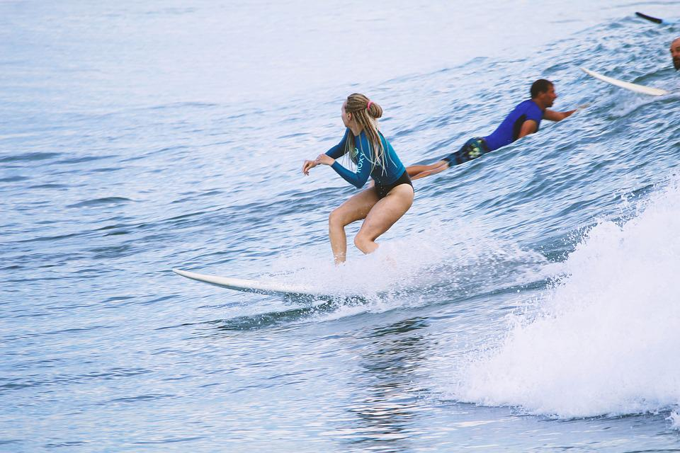 Surfing, Beach, Girl, Hot, Surf, Ocean, Sea, Summer