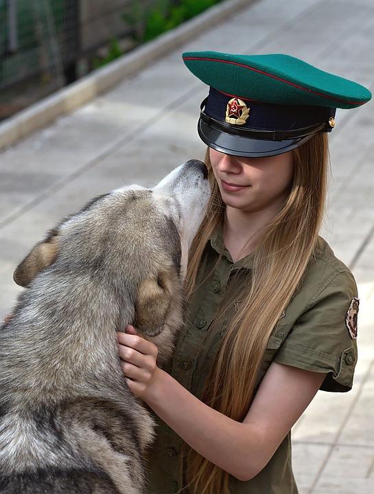 Girl, Dog, Tenderness