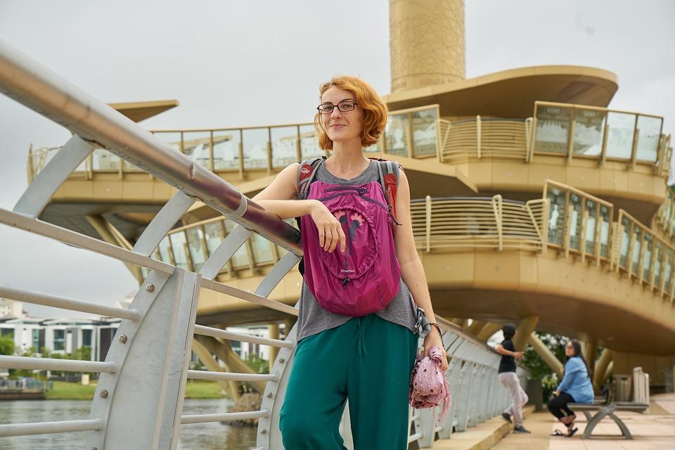 Woman, Tourist, Bag, Travel, Girl, People, Holiday
