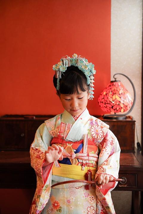 Kid, Kimono, Traditional, Cultural, Child, Girl